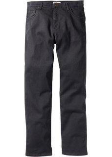 Брюки стретч Classic Fit Straight, низкий рост (U) (темно-серый) Bonprix