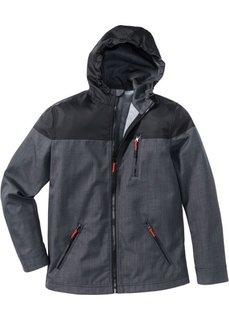 Куртка-софтшелл Regular Fit (серый меланж/черный) Bonprix