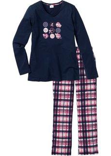 Пижама (темно-синий с рисунком) Bonprix