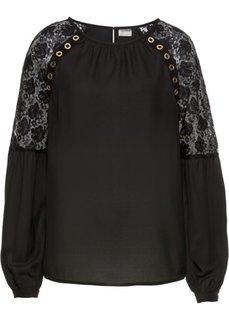 Блузка с заклепками (черный) Bonprix