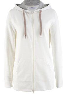 Удлиненная трикотажная куртка (кремовый меланж) Bonprix