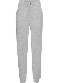 Вязаные брюки (светло-серый меланж) Bonprix