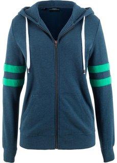Куртка трикотажная с аппликациями на рукавах (темно-синий) Bonprix