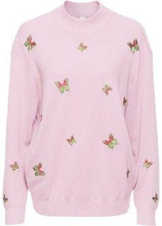 Пуловер (светло-сиреневый) Bonprix