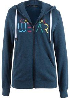Куртка трикотажная с рисунком (темно-синий с рисунком) Bonprix