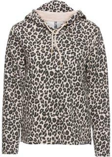 Свитшот с леопардовым принтом (леопардовый бежевый) Bonprix
