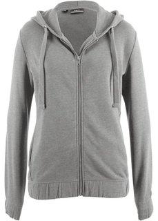 Куртка с эластичным нижним краем (серый меланж) Bonprix