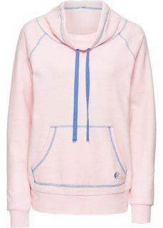 Пуловер из флиса (нежно-розовый меланж/голубой) Bonprix