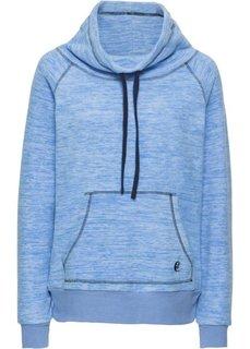 Пуловер из флиса (голубой меланж/темно-синий) Bonprix