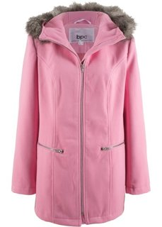 Парка из материала, внешне напоминающего шерсть (малиново-розовый) Bonprix