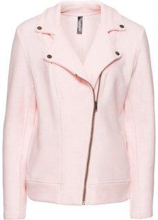 Куртка из флиса в байкерском стиле (нежно-розовый меланж) Bonprix