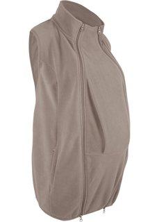 Жилет из флиса с карманом-вставкой для малыша (серо-коричневый) Bonprix