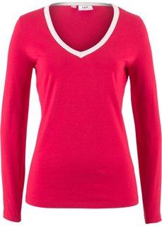 Стрейчевая футболка (красный) Bonprix