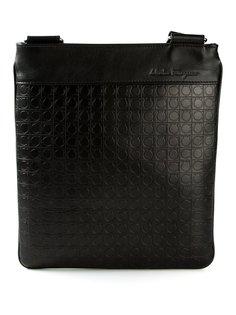 тисненая сумка через плечо с логотипом Salvatore Ferragamo