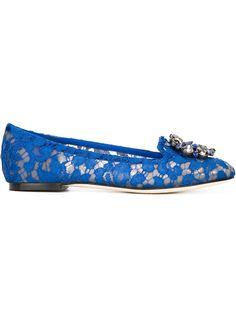 кружевные слиперы Vally Dolce & Gabbana