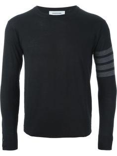 свитер с с контрастными полосками   Thom Browne