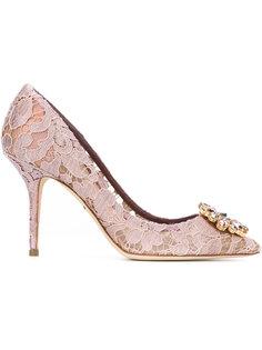декорированные кружевные туфли Dolce & Gabbana