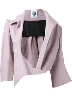 укороченный пиджак с асимметричными лацканами Aganovich