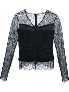 кружевная блузка  Yigal Azrouel