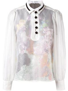 прозрачная блузка Carven
