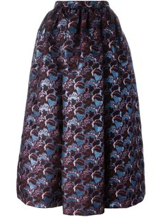 пышная юбка с цветочным узором MSGM