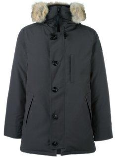 пальто-пуховик с меховой оторочкой Canada Goose