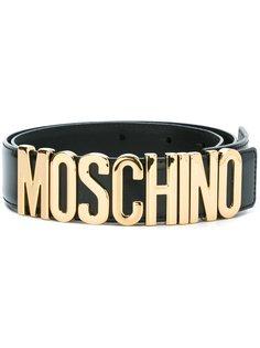 ремень с бляшкой-логотипом Moschino