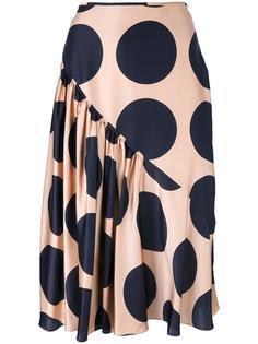 юбка с крупным узором в горох Stella McCartney