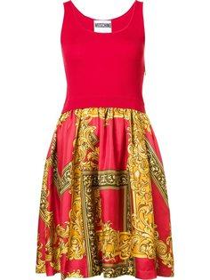 платье с принтом в стиле барокко Moschino