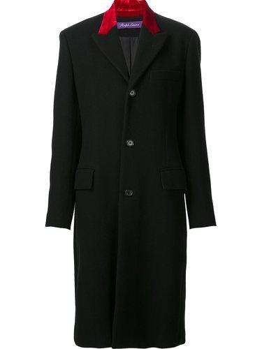 пальто с контрастной вставкой Ralph Lauren