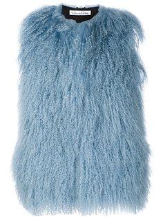 куртка без рукавов из овчины Oscar de la Renta