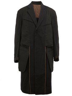 однобортное пальто Ziggy Chen
