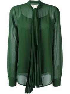 плиссированная блузка с бантом Michael Michael Kors