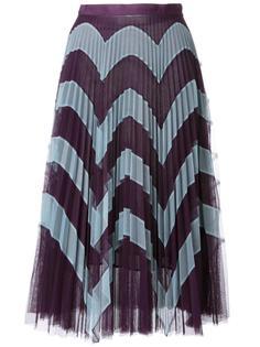 плиссированная юбка с зигзагообразным узором Mary Katrantzou