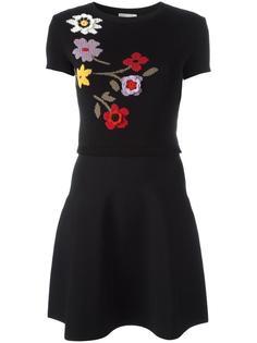 вязаное платье с цветочным рисунком Red Valentino