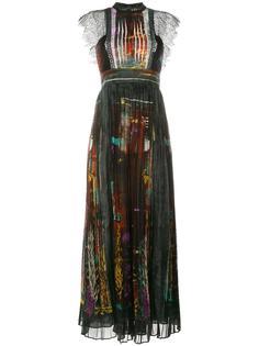 длинное платье Cuban Forest с узором Valentino