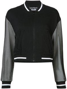 куртка-бомбер  с сетчатыми рукавами Boutique Moschino