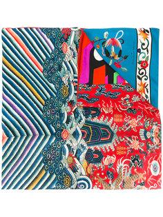 полосатый шарф с рисунком Pierre-Louis Mascia