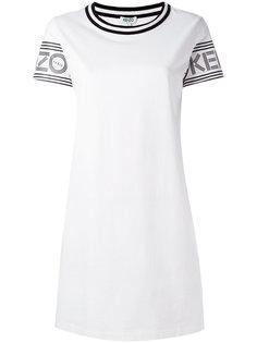 платье-футболка  с принтом логотипа Kenzo