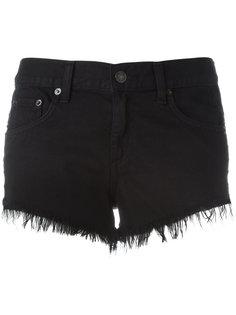 джинсовые шорты с бахромой Rag & Bone /Jean