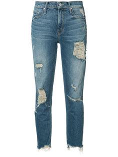 укороченные джинсы с рваными деталями Mother