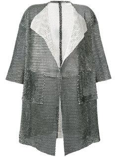сетчатое пальто с короткими рукавами Giorgio Brato