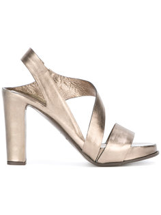 босоножки на каблуках-столбиках Del Carlo