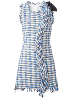 клетчатое платье с бахромой MSGM