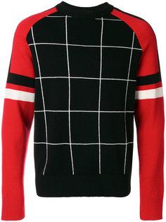 трехцветный свитер Ami Alexandre Mattiussi