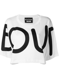 укороченная футболка с принтом Boutique Moschino