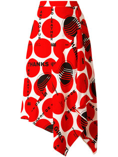 асимметричная юбка в горох Stella McCartney