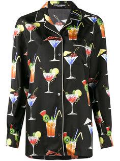 рубашка с принтом коктейлей Dolce & Gabbana