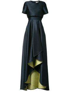 вечернее платье с каскадными драпировками Jason Wu