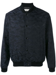 куртка-бомбер  с камуфляжным принтом Saint Laurent